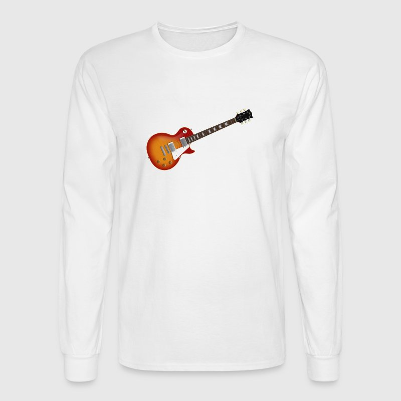 Sunburst Electric Guitar - Men's Long Sleeve T-Shirt