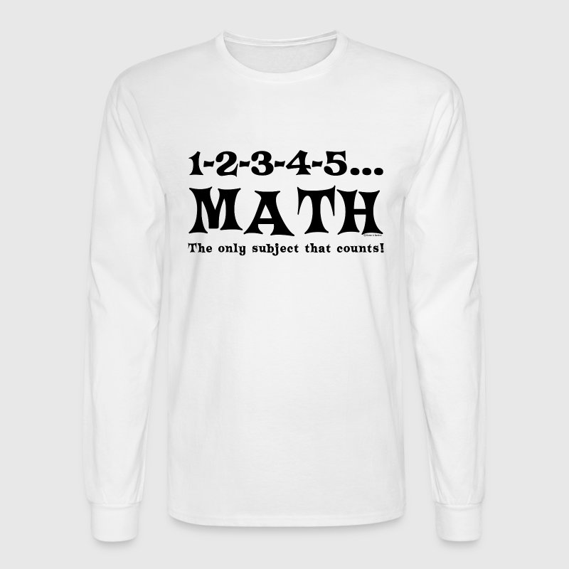 Black Math Counts - Men's Long Sleeve T-Shirt