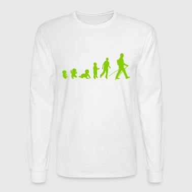 evolution nordic walking - Men's Long Sleeve T-Shirt