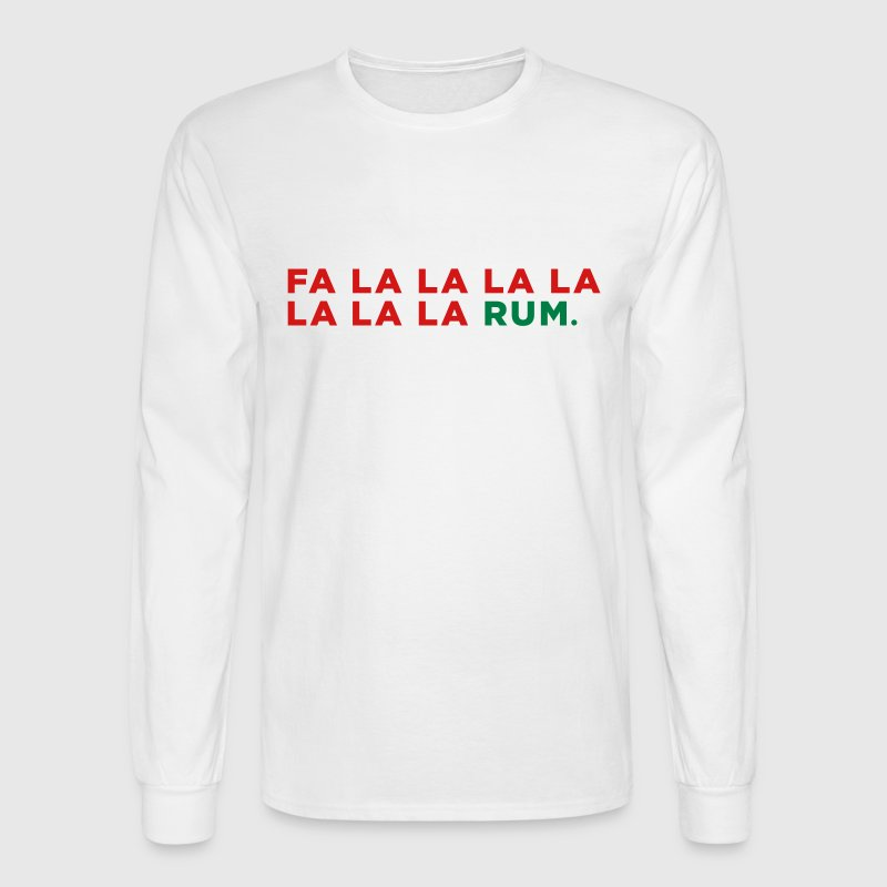 Rum Liquor Funny Alcohol Christmas Party Song - Men's Long Sleeve T-Shirt