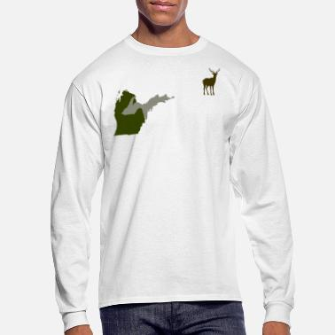 Hunting Funny Michigan Yooper Hunting Parody Deer T-Shirt  - Men's Long Sleeve T-Shirt