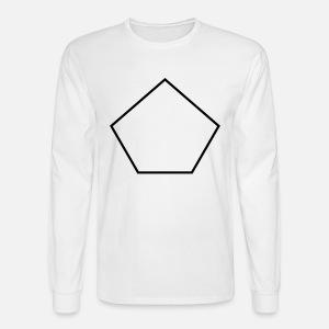 pentagon shape men s t shirt spreadshirt Trigonal Pyramidal men s longsleeve shirt