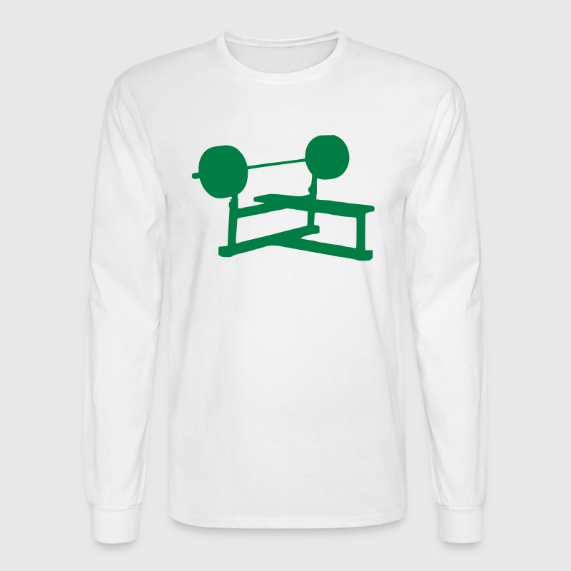 Weight Bench - Fitness - Gym - Power - Men's Long Sleeve T-Shirt
