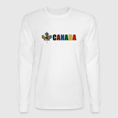 Canada Tartan - Men's Long Sleeve T-Shirt