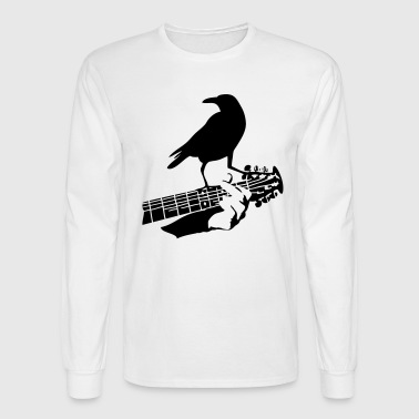 Woodstock crow on the guitar - Men's Long Sleeve T-Shirt