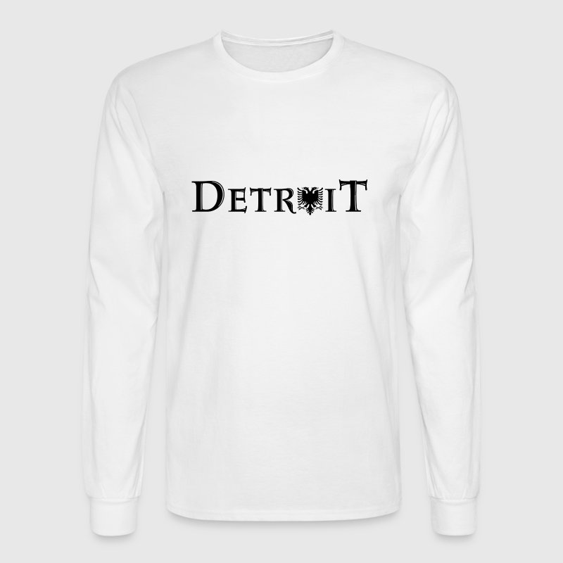 Detroit Albania Albanian Pride Flag - Men's Long Sleeve T-Shirt