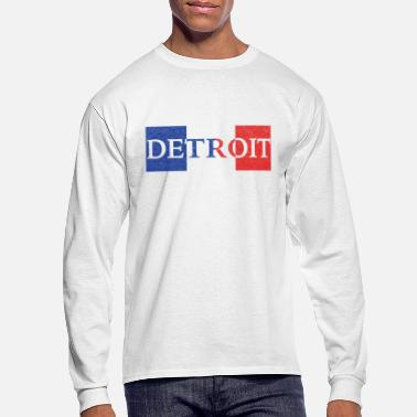 French Flag Detroit French France Flag - Men's Long Sleeve T-Shirt