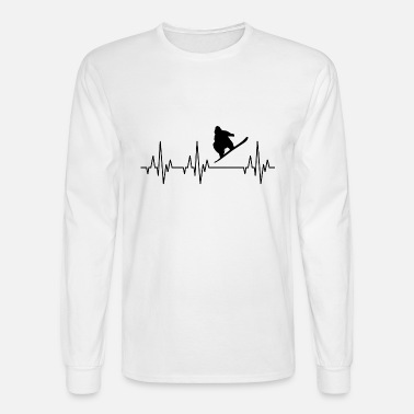 Heartbeat Snowboarding Snowboarder Winter Sports Mens Premium T