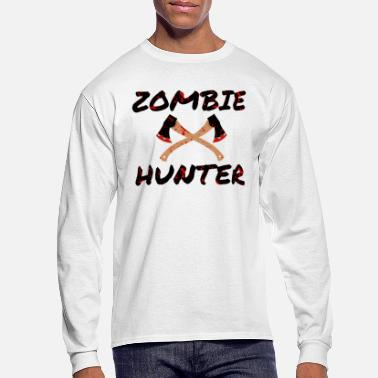 Blood Stains Zombie Hunter - Horror Infects Undead Blood Stain - Men's Long Sleeve T-Shirt