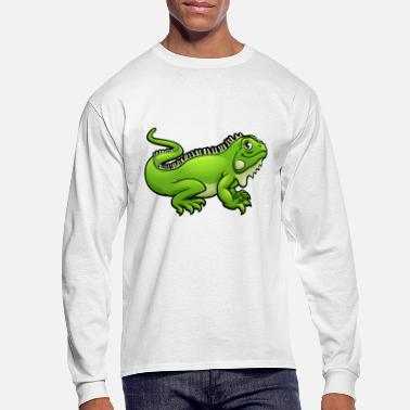 Iguana Iguana lizard reptile animal wildlife vector image - Men's Long Sleeve T-Shirt
