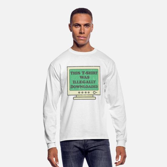 College Long-Sleeve Shirts - Illegally Downloaded - Men's Longsleeve Shirt white