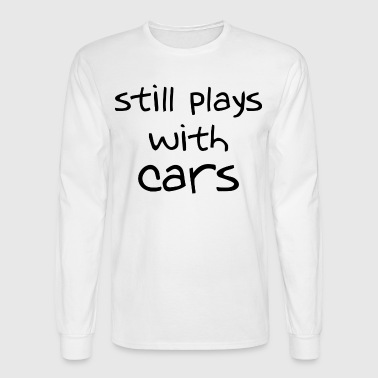 stillplays_with_cars_stacked - Men's Long Sleeve T-Shirt
