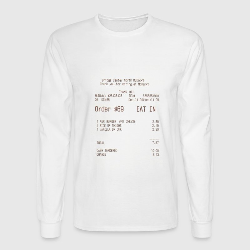 McDicks order #69 - Men's Long Sleeve T-Shirt