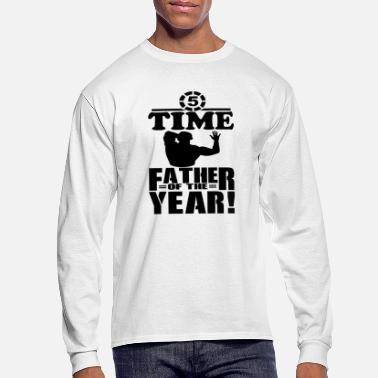 5 Time Father of the Year #fathersdayswag - Men's Longsleeve Shirt