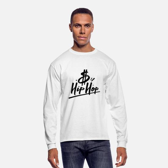 Rap Long-Sleeve Shirts - HipHop - Men's Longsleeve Shirt white