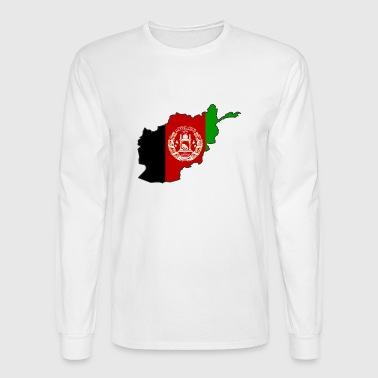 Flag Map of Afghanistan - Men's Long Sleeve T-Shirt