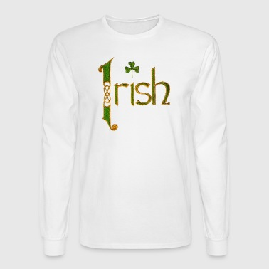 Vintage Irish Ireland Pride Stitch Style - Men's Long Sleeve T-Shirt