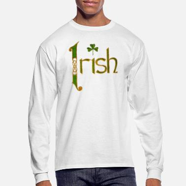 Ireland Vintage Irish Ireland Pride Stitch Style - Men's Long Sleeve T-Shirt