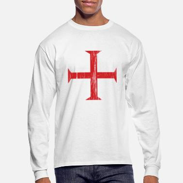 Templar Knights Knights Templar Crusader Cross - Men's Long Sleeve T-Shirt