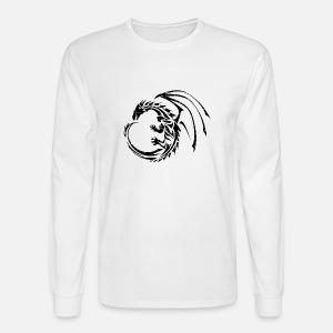 sleek dragon shadow men s premium t shirt spreadshirt Japanese Men men s longsleeve shirt