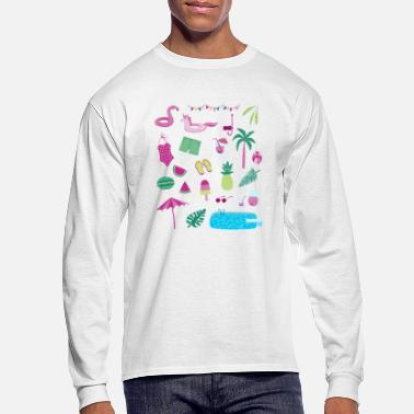 Swimming Pool Swimming Pool Party - Men's Long Sleeve T-Shirt