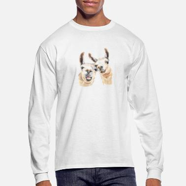 Retirement Llama Love Tee & Hoodie - Men's Longsleeve Shirt