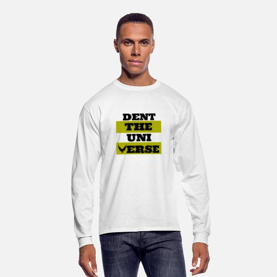 Universe Long-Sleeve Shirts - Dent The Universe - Men's Longsleeve Shirt white