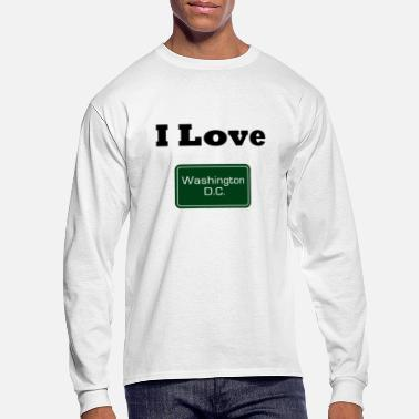 Washington D.c. I Love Washington D.C. - Men's Long Sleeve T-Shirt