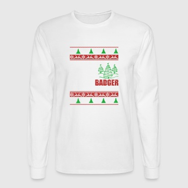 Badger T shirt - Badger Christmas Shirt - Men's Long Sleeve T-Shirt