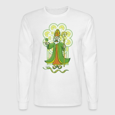 Saint Patrick chasing last Ireland's snake - Men's Long Sleeve T-Shirt