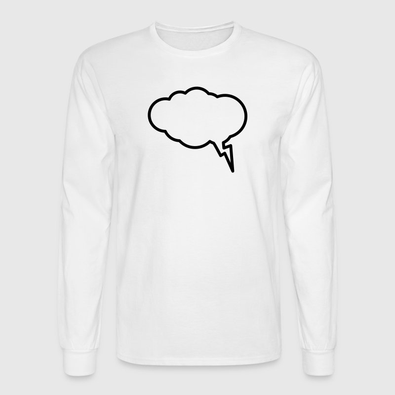 Thunder Cloud Outline - Men's Long Sleeve T-Shirt