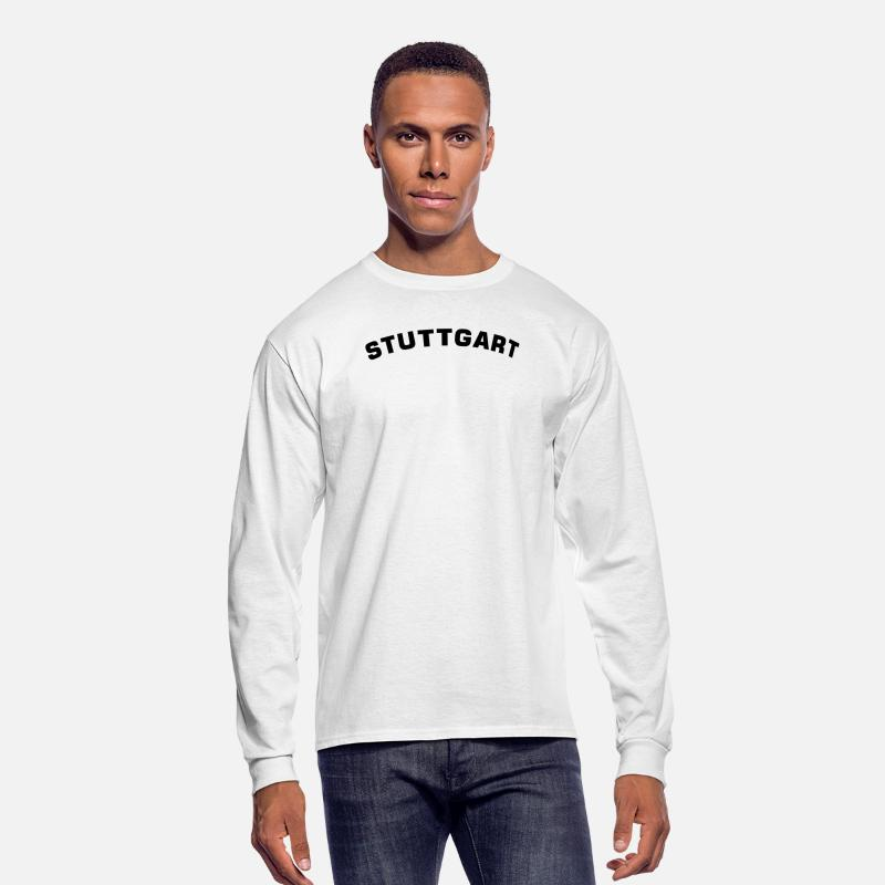 Schland Long sleeve shirts - Stuttgart - Men's Longsleeve Shirt white
