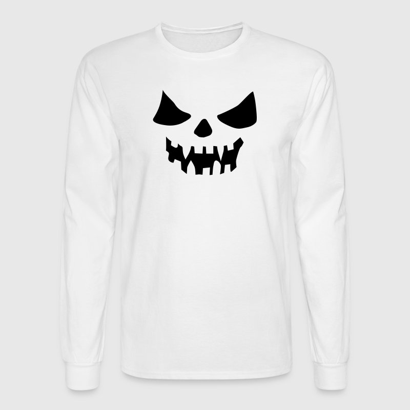 Scary Face - Men's Long Sleeve T-Shirt