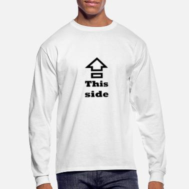 Side Text ⇪ This side up - Men's Longsleeve Shirt