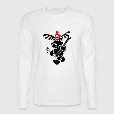 Canadian Moose skiing - Men's Long Sleeve T-Shirt