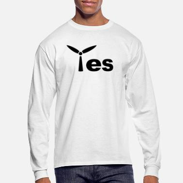 Wind Energy Yes, to the wind energy gift - Men's Long Sleeve T-Shirt