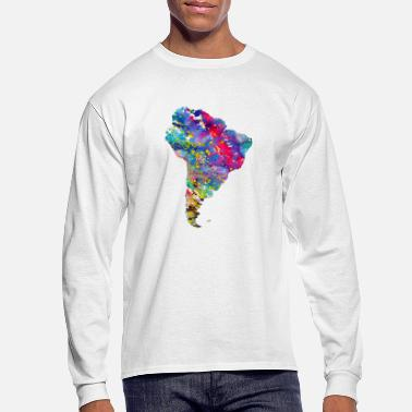 South America South America map - Men's Long Sleeve T-Shirt