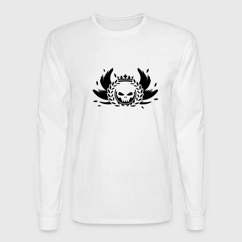 Skull with crown, wings and laurel wreath - Men's Long Sleeve T-Shirt