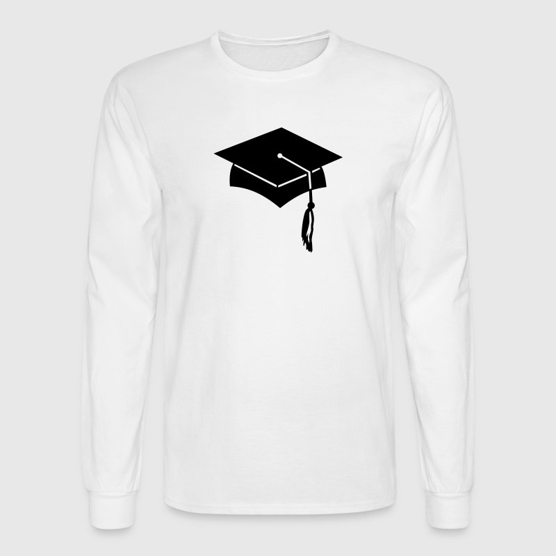 graduation college hat - Men's Long Sleeve T-Shirt