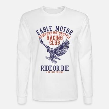 6887a91ae086 Eagle Motor Racing Club Custom Motorcyle Design Men's 50/50 T-Shirt ...