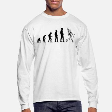 Baseball Evolution Baseball. - Men's Long Sleeve T-Shirt