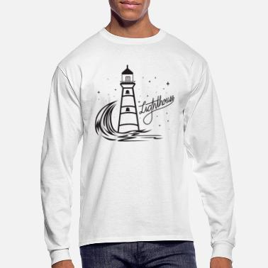 North Sea Lighthouse Coast North Sea Holiday Gift - Men's Long Sleeve T-Shirt