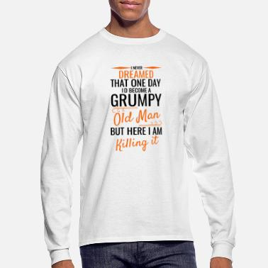 Old GRUMPY OLD MAN (Black) - Men's Long Sleeve T-Shirt