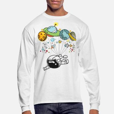 Graphic Space Travel Graphic Hot Tee For Kids, Men & Women - Men's Long Sleeve T-Shirt