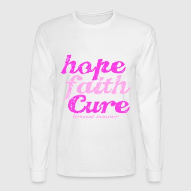 hope faith cure - Men's Long Sleeve T-Shirt