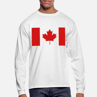 Canadian Canadian Flag - Men's Long Sleeve T-Shirt