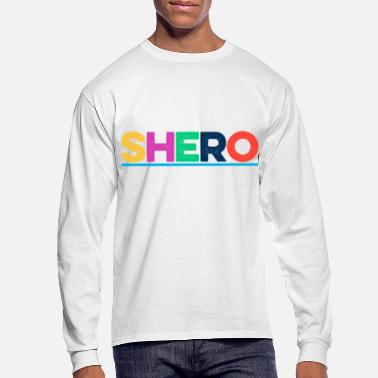 Shero Colorful Feminism Female Girl Power Design - Men's Longsleeve Shirt