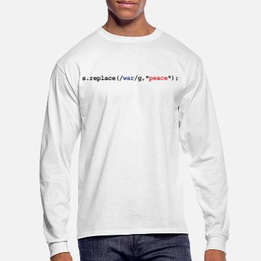 Humor replace war with peace - Men's Longsleeve Shirt