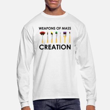 Paint Brush Painter - artist - brush - weapon - art - Men's Longsleeve Shirt