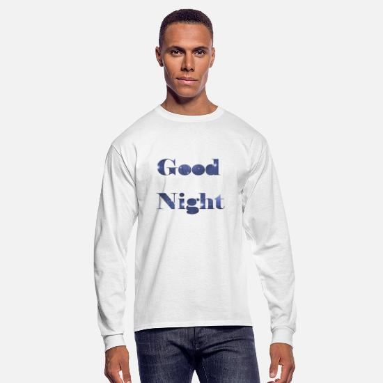 Good Mood Long-Sleeve Shirts - GOOD NIGHT - Men's Longsleeve Shirt white
